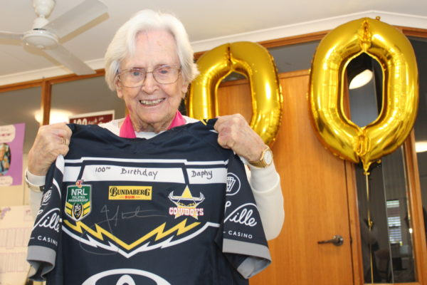 Footy fan Daphne kicks on to 100 years
