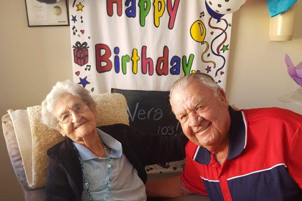 Karinya Place resident Vera celebrates 103rd birthday