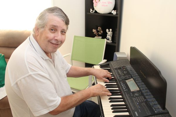 Help at home is music to Russill's ears